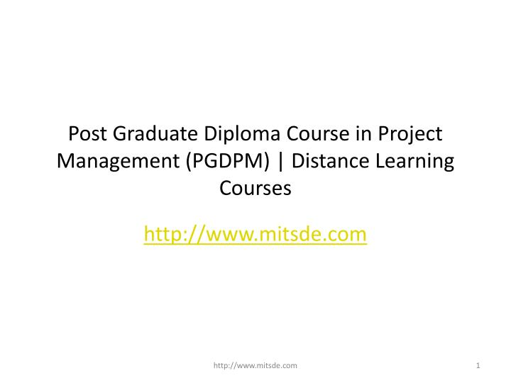 post graduate diploma course in project management pgdpm distance learning courses n.