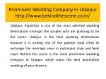 prominent wedding company in udaipur http www behindthescene co in 1