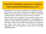 prominent wedding company in udaipur http www behindthescene co in 4