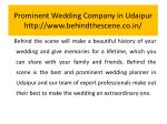 prominent wedding company in udaipur http www behindthescene co in 5