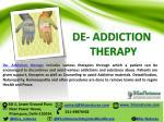 de addiction therapy