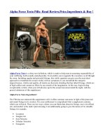 alpha force testo pills read review price