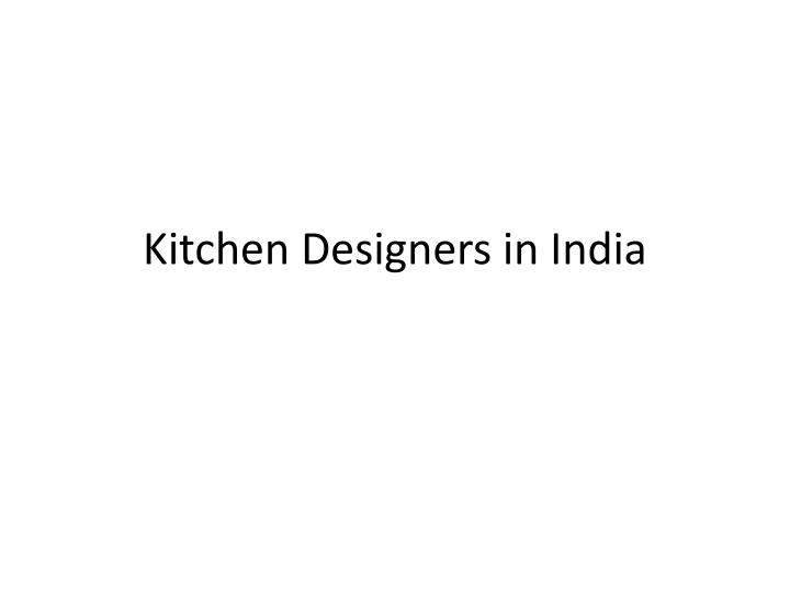 kitchen designers in india n.