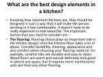 what are the best design elements in a kitchen