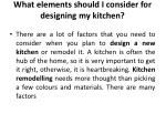 what elements should i consider for designing my kitchen