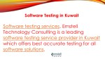 software testing in kuwait