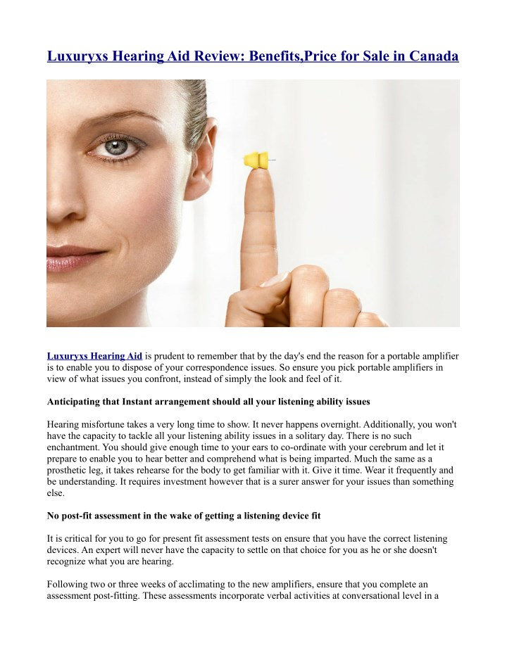 luxuryxs hearing aid review benefits price n.