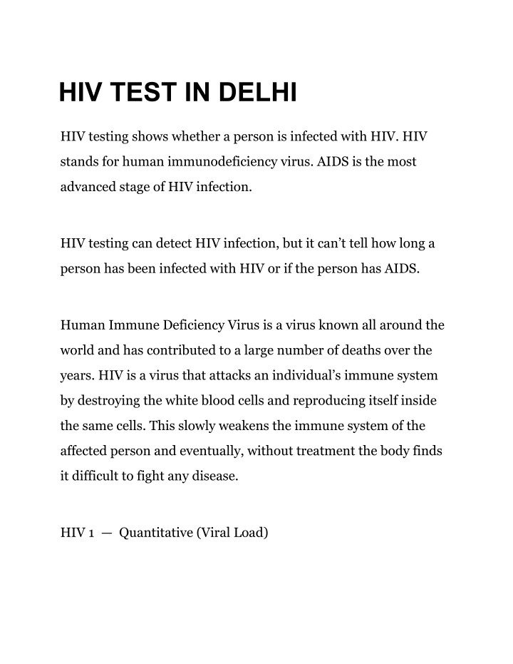 hiv test in delhi n.