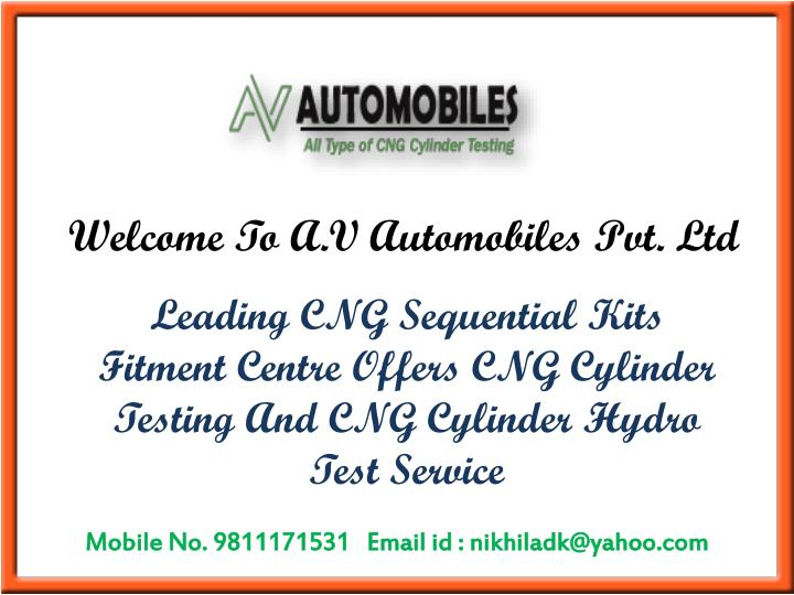 welcome to a v automobiles pvt ltd n.