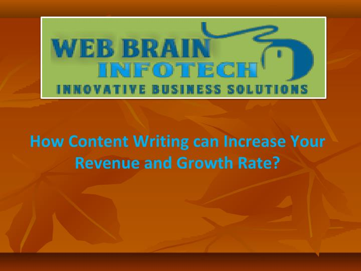 how content writing can increase your revenue and growth rate n.