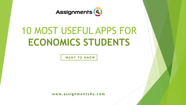10 most useful apps for economics students n.