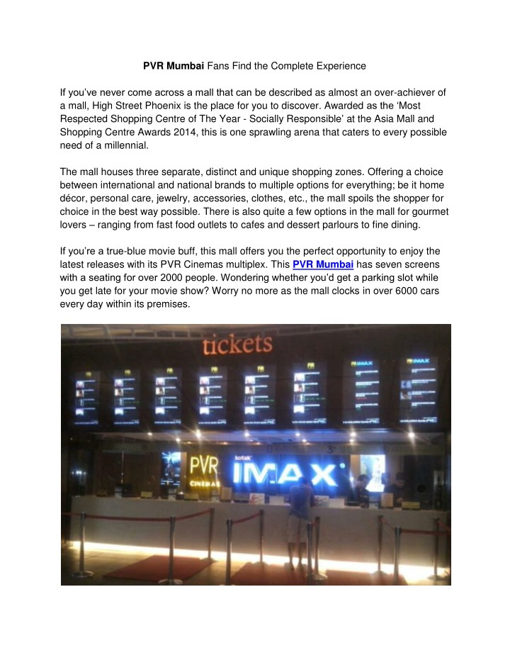 pvr mumbai fans find the complete experience n.