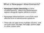 what is newspaper advertisements