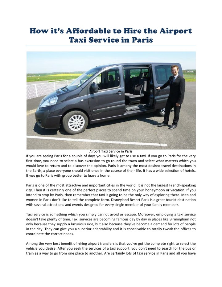 how it s affordable to hire the airport taxi n.