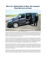 how it s affordable to hire the airport taxi