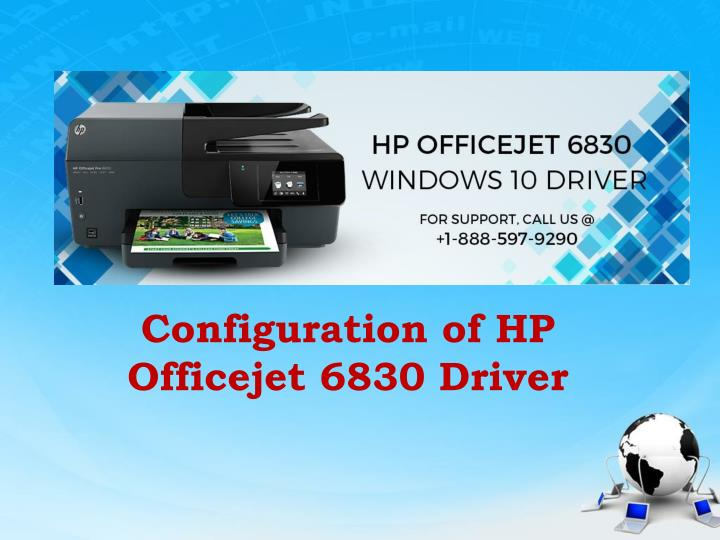 configuration of hp officejet 6830 driver n.