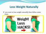 loss weight naturally