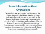 some information about overweight
