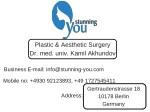 plastic aesthetic surgery dr med univ kamil
