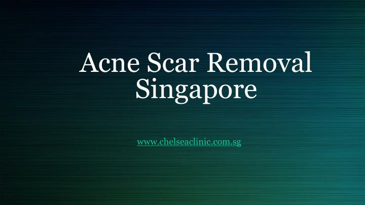 acne scar removal singapore n.
