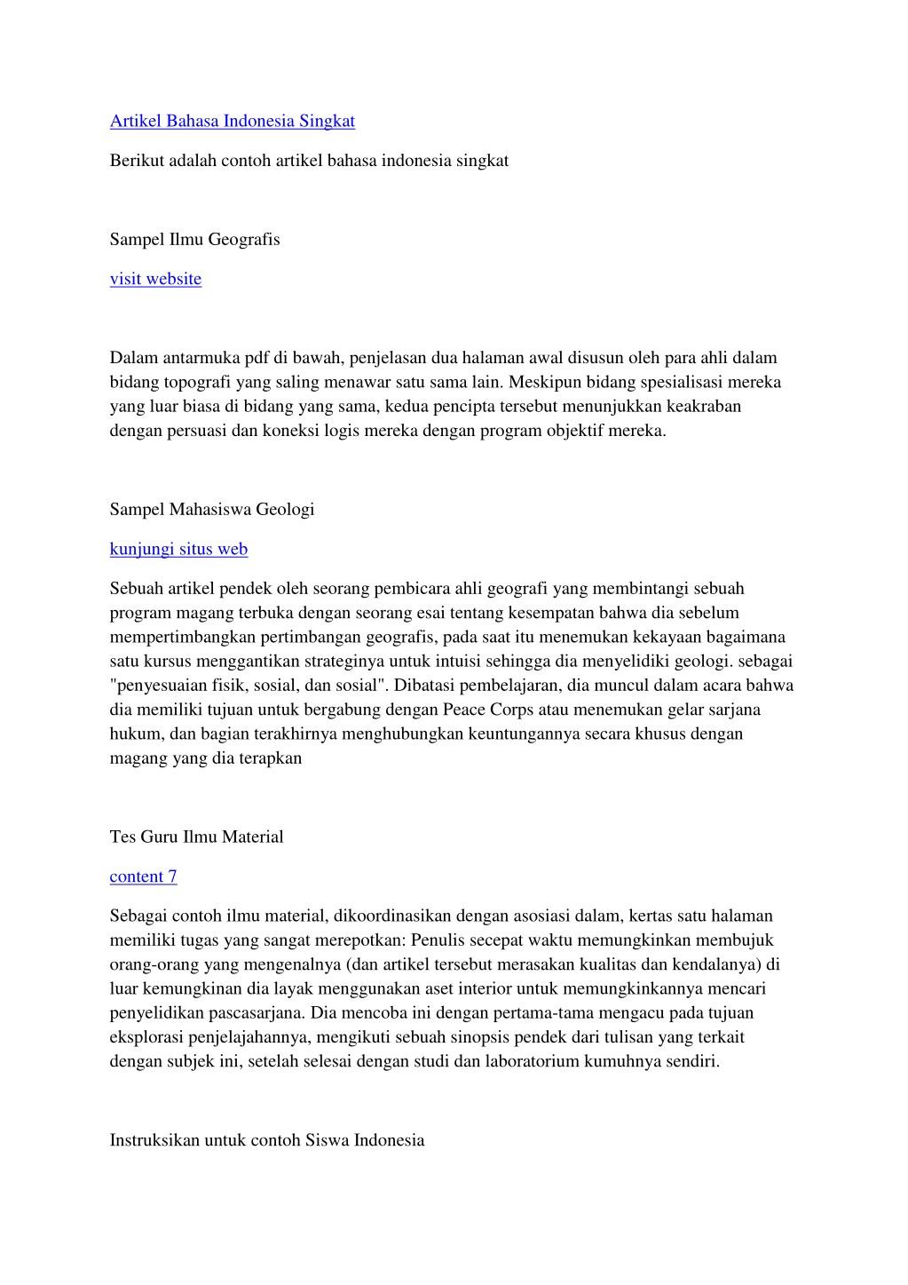 Ppt Artikel Bahasa Indonesia Singkat Powerpoint Presentation Id