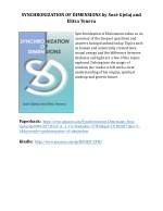 synchronization of dimensions by sos gjelaj