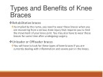 types and benefits of knee braces 1