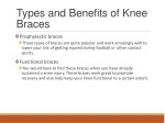 types and benefits of knee braces