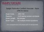 juniper networks certified associate junos jncia