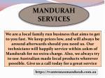 mandurah services