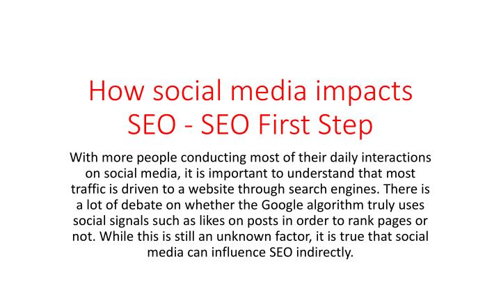 how social media impacts seo seo first step n.