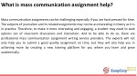 what is mass communication assignment help