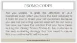 promo codes 1
