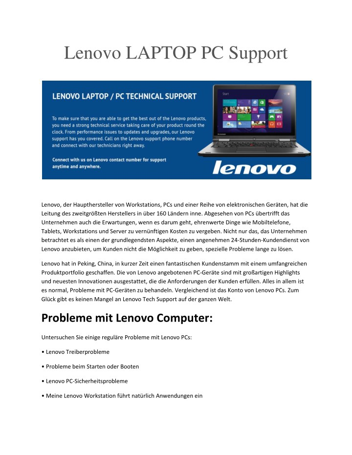 lenovo laptop pc support n.