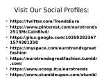 visit our social profiles