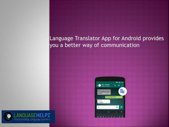 language translator app for android provides n.