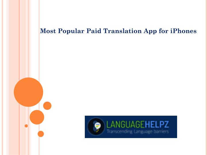 most popular paid translation app for iphones n.