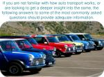 if you are not familiar with how auto transport