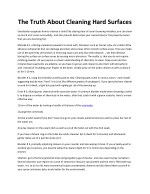 the truth about cleaning hard surfaces