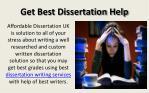 get best dissertation help
