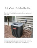 heating repair find a good specialist