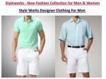 style works designer clothing for men
