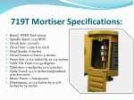 719t mortiser specifications