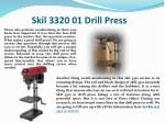 skil 3320 01 drill press