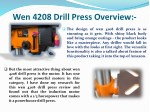 wen 4208 drill press overview