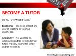 become a tutor