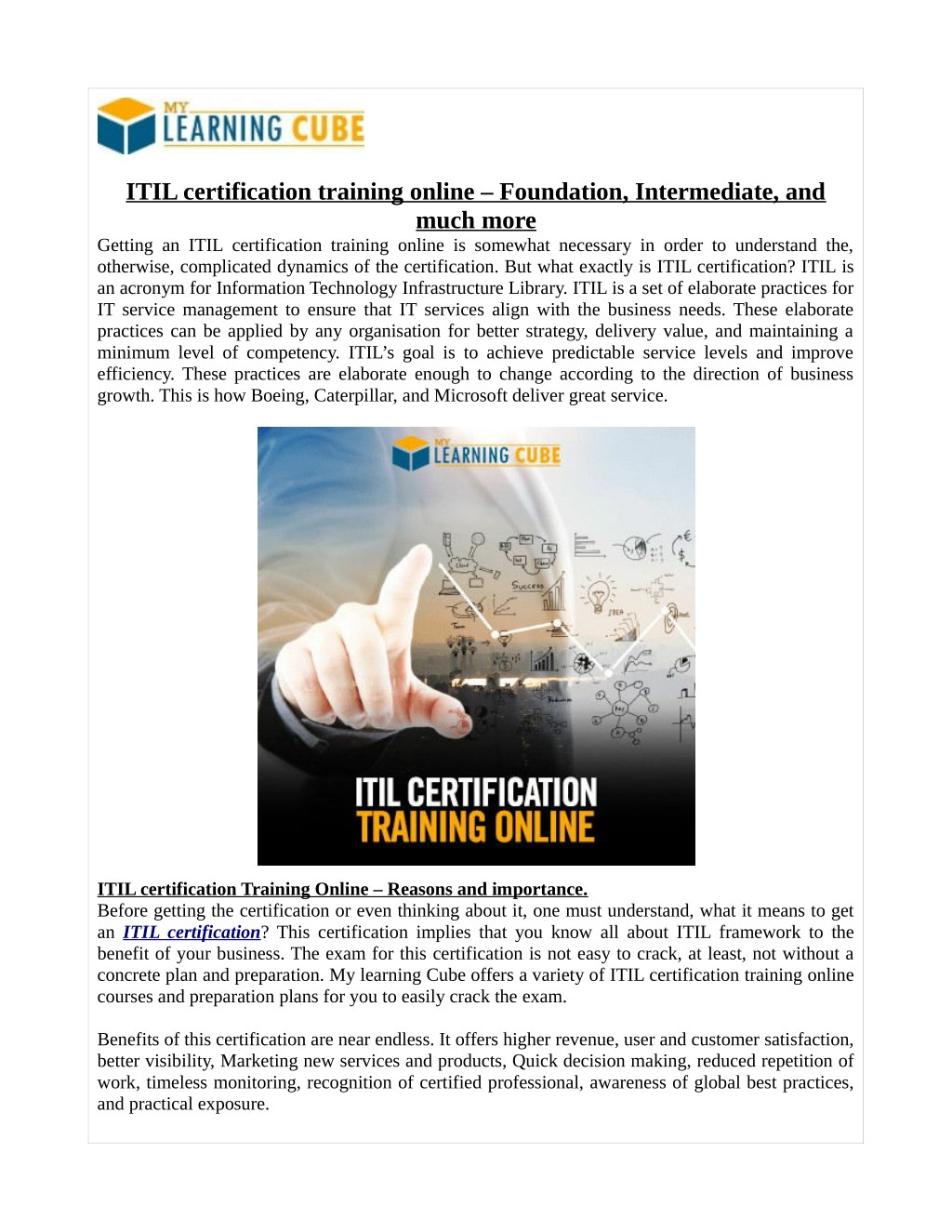 Ppt Itil Certification Training Online Foundation