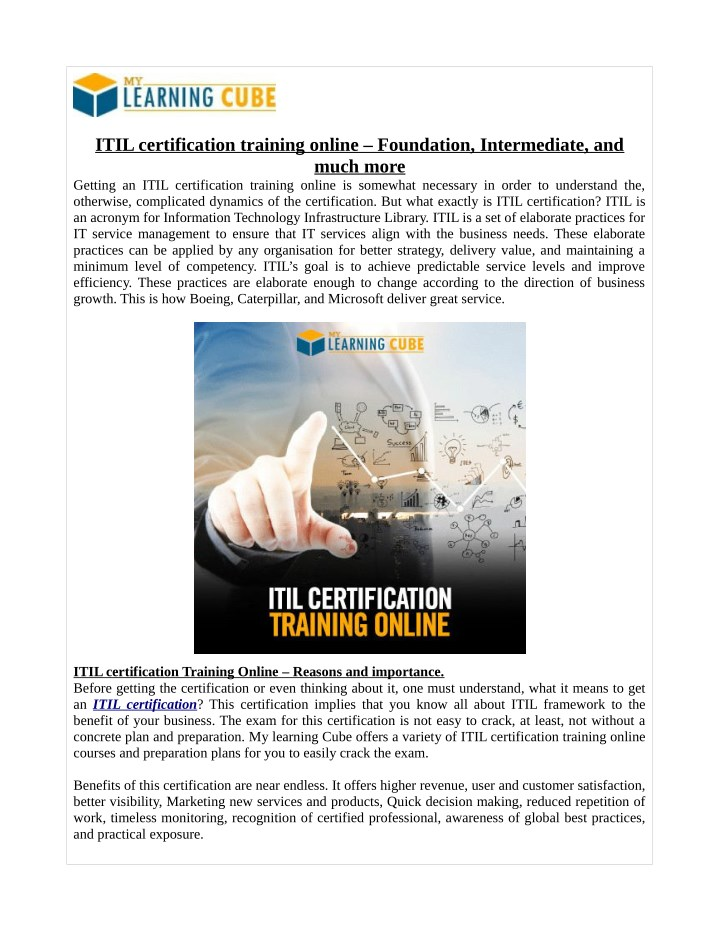 itil certification training online foundation n.