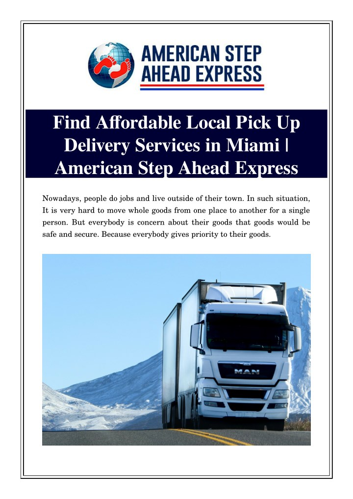 find affordable local pick up delivery services n.