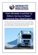 find affordable local pick up delivery services